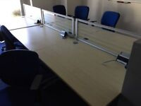 oak straight desks 1200 x 800