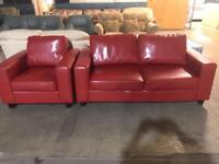 2+1 red leather sofa in excellent condition can deliver