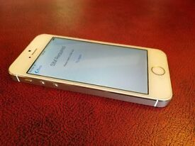 iPhone 5s SIM free smartphone in gold 16gb retina display mains charger data cable