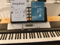 YAMAHA DIGITAL KEYBOARD package with midi unit for connection to computer, manuals & music