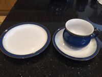 DENBY. Imperial Blue teaset. 18 piece. Boxed. Unused