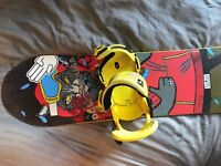 DC Snowboard 153cm(Torstein Horgmo edition), Union Force yellow bindings and DC Kush Boots UK9.5