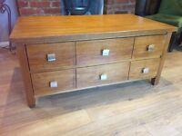Oak wooden tv unit/stand/sideboard