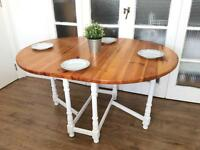 SOLID PINE VINTAGE DROP LEAF TABLE FREE DELIVERY LDN🇬🇧RUSTIC FARMHOUSE