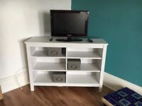 Large white tv stand