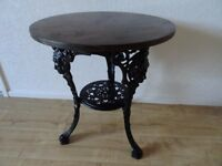 heavy cast iron Britannia table - cast iron pub table - conservatory table