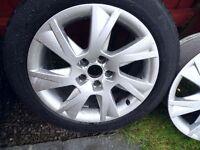 """Audi 17"""" alloy wheels x2"""