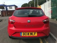 2014 14 Seat Ibiza Toca 1.4 Petrol 3 Door Hatchback 5 Speed Manual