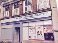 Beauty studio, Lrg Office, classroom, treatment room, Consultation room, massage room. units WV1