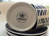 Set of 4 Whittard Coffee Cups & Saucers