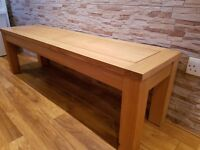 NEW OAK FURNITURE LAND SOLID OAK COFFEE TABLE 4 FT 11 INCHES WIDE *STUNNING*