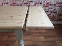 Extending Table Scrub Top Painted Farmhouse Pine Dining Kitchen - in Huge Range of Adaptable Sizes