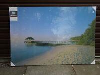 Large Beach Scene Canvas