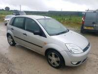2002 FORD FIESTA ZETEC 1.4 16V 5 DOOR HATCHBACK SILVER SPARES OR REPAIRS
