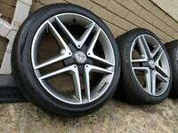 "18"" Genuine Mercedes A - Class A45 AMG Alloy Wheels & Tyres 5x112"