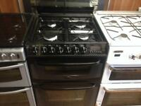 Cannon Black gas cooker