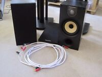 B&W 686 S2 BOOKSHELF SPEAKERS,STANDS AND CABLE FOR SALE
