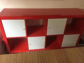 High gloss red unit
