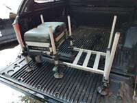 LEEDA CARP MATCH SEAT BOX WITH FOOT PLATE