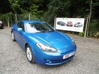 Hyundai Coupe S111 In Blue, 2007 07 reg, Service History, Last Service At 80,146 Miles