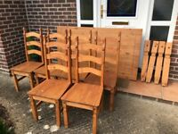 Mexican style table and 6x chairs