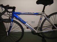 "racing bike 18"" ( 54cm ) aluminium frame .blue /silver"