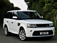 STORMER EDITION!(2011) RANGE ROVER SPORT 3.0 WHITE + ALLOYS + SATNAV + FSH +COMMAND SHIFT +LOW MILES