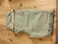 """MENS BEIGH/ CAMOFLAGE SHORTS 2 PAIRS SIZE 32 """" WAIST"""