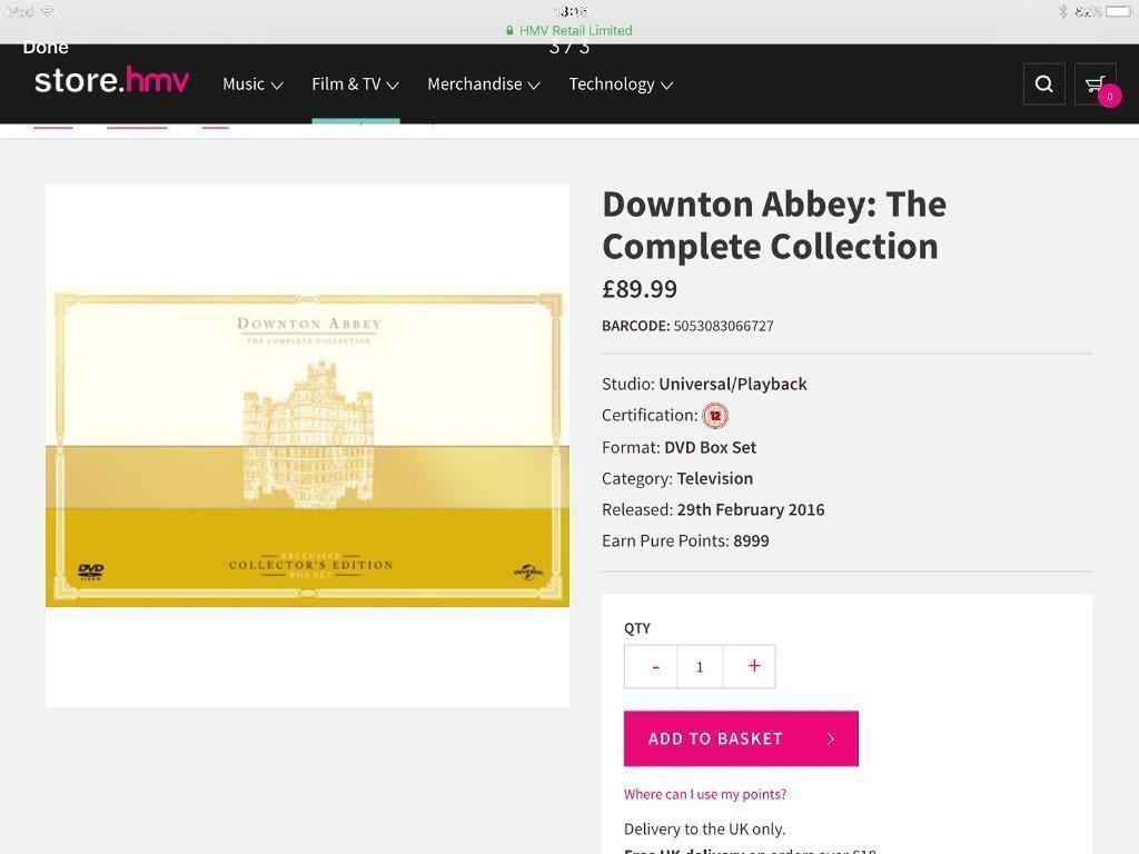 Valentines Day GIFT - Downton Abbey (NEW & SEALED) DVD Limited ...