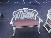 Cast aluminium benches