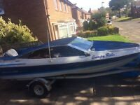 Speed boat Bayliner Capri bowrider 90hp evinrude