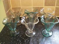 Set of Ice Cream Sundae Glasses