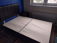 Orthomedic Divan Bed with Mattress, Headboard and 2 Drawers - Small Double 4'0