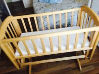 John Lewis baby crib with mattress