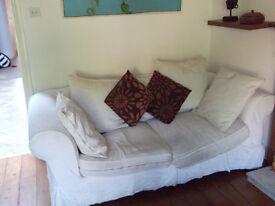 Creme 2-seater sofa for sale £25