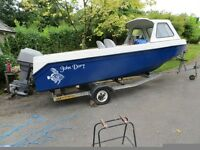 John Dory 16ft fast Fishing Boat with engine and trailer.