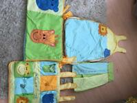 Baby sleeping bag and cot bedding