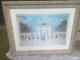 BEAUTIFULL ARC DE TRIOMPHE PRINT SIGNED ,TO COLLECT