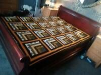 Stunning sleigh bed king size