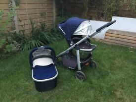 Uppababy single pushchair and carry cot, Taylor