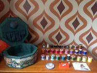 Sewing box with 30 vintage cottons