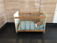 Gorgeous vintage handmade toy cot