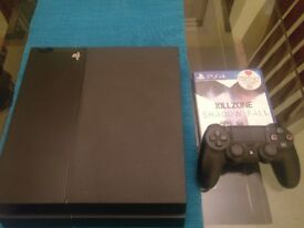 Mint condition PlayStation 4 with all cables, new gen controller and Killzone shadow fall