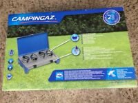 Never been used 2 burner camping gaz stove