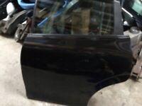 Seat Leon mk2 n/s rear door black 06-12
