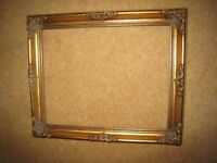Selection of Vintage Gold Gilt wooden picture frames.