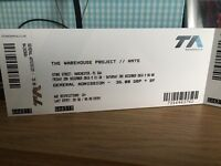 Warehouse Project/Ants - 2nd December 2016 - Manchester 2x Tickets