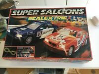 Scalextric - Super Saloons set plus lots of additional track, features and cars