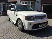 LAND ROVER RANGE ROVER SPORT 3.0 TDV6 HSE. 2010 AUTOBIOGRAPHY FACTORY FITTED. WHITE, FLRSH HPI CLEAR