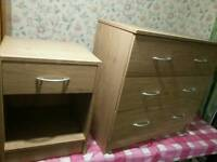 3 Drawer Chest Draw & Bedside Cabinet